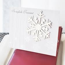 silver snowflake ornament winter wedding favors