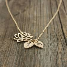 Personalized Necklaces For Her Personalized Lotus Flower Necklace Yoga From Sevgi Charms