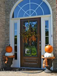 Halloween And Fall Decorating Ideas Front Doors Fun Activities Autumn Front Door Decorating Idea 130