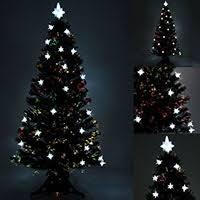 7ft black pre lit colour fibre optic tree 44 white led