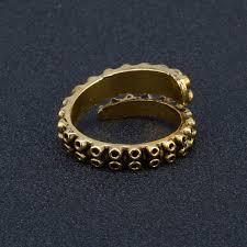metal octopus ring holder images Adjustable tentacle ring stainless steel octopus ring gold plating jpg