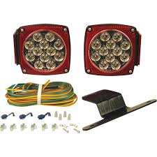 Optronics Led Trailer Lights Led Trailer Light Kit Towsmart 80 In Over And Under Led Trailer