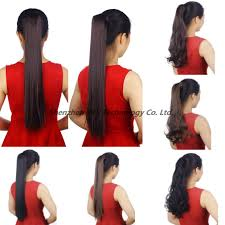 Long Synthetic Hair Extensions by Straight Synthetic Hair Clip In Hair Extensions Fashion 3 4 Full