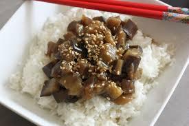 cuisiner aubergine rapide aubergine sauce soja et riz recette express n 3 cookée