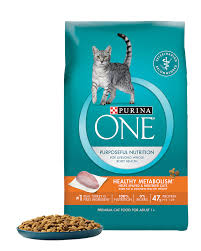 dry cat food products purina one