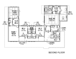 contemporary style house plan 4 beds 5 50 baths 6301 sq ft plan
