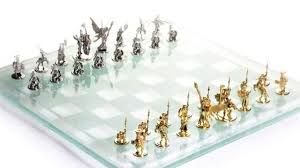 14k white u0026 yellow gold tempered glass chess set youtube