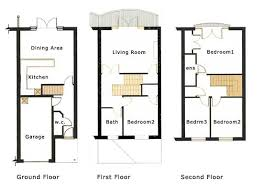 3 story townhouse floor plans three story house plans three story house three story home plans
