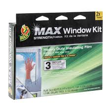 Temporary Window Protection Film Duck Max Heavy Duty Shrink Film Window Kit Indoor 3 Pack