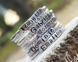 mothers ring with names stackable name rings mothers rings stacking name rings