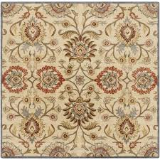 Square Wool Rug Hand Tufted Noah Traditional Wool Rug 9 U00279 Square Rust 9 U00279