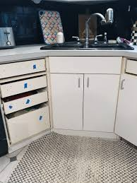 best glue for laminate cabinets how to add trim and paint your laminate cabinets brepurposed