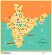 Maps Of India by Map Of India Stock Vector Image 64924822