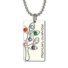 bar necklace personalized sterling silver birthstone family tree necklace personalized