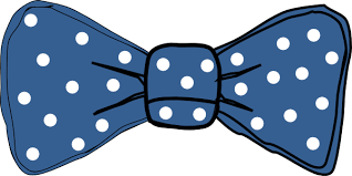 white and blue bows bow tie blue with white dots clip at clker vector clip