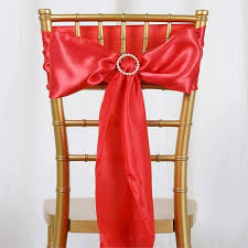 how to make chair sashes satin chair sash 6x106 coral 5pcs efavormart
