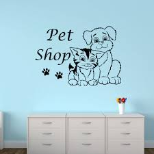 pet shop cat store vinyl wall sticker glass decal picture
