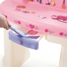 Vanity With Stool Fantasy Vanity Kids Pretend Play Step2