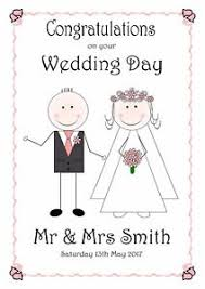 wedding day congratulations wedding day card personalised congratulations pink groom
