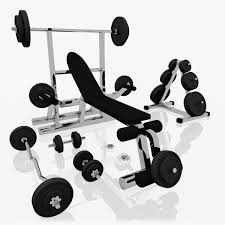 realistic exercise machine bench press