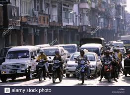 mada car indonesia bali denpasar traffic jam in gajah mada road stock