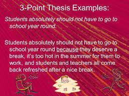 Step Thesis Statement
