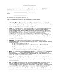 agreement contractor agreement form