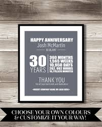 30 year anniversary gifts best 25 work anniversary ideas on parents anniversary