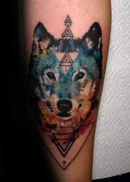 collection of 25 watercolor wolf on forearm