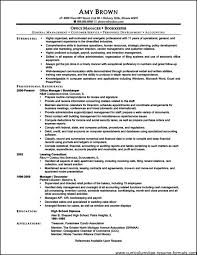 Office Manager Resume Sample Office Administration Resume Examples Free Free Samples