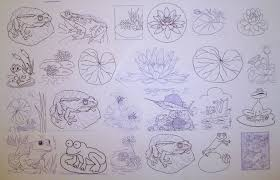 how to paint lilies lily pads and frogs in watercolor