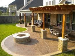 Patio With Firepit Best 25 Backyard Covered Patios Ideas On Pinterest Outdoor