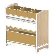 meuble de rangement jouets chambre delta meuble de rangement enfant jouets 6 bacs en bois 286171