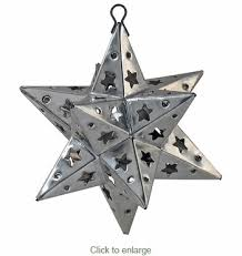 punched tin ornaments set of 2