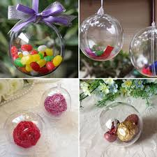 Box Ornament 12pcs Tress Decorations 6cm Transparent Open