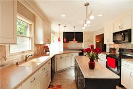 galley kitchen track lighting over small with floor to ceiling