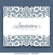 cutout paper frame lace border stock vector 478315003