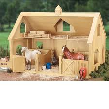 Toy Barns Traditional Series Deluxe Wood Barn Breyer 302 Schleich