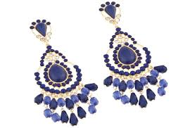navy blue earrings blue bridal earrings navy