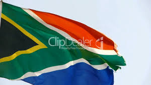 Afican Flag South African Flag Is Fluttering In Wind Royalty Free Video And