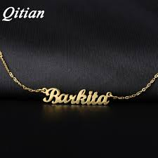 personalized picture necklaces qitian name necklace gold color stainless steel personalized custom