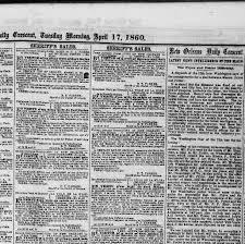 bureau ing ierie orleans daily crescent orleans la 1851 1866 april 17