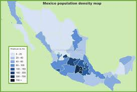 Map Of Tulum Mexico by Mexico Population Density Map Jpg