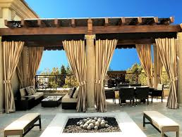 Outdoor Gazebo With Curtains Photo Of Outdoor Patio Curtain Ideas Striped Patio Curtains
