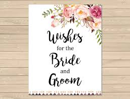 wedding wishes for the and groom boho tribal printable wedding wish cards pink floral boho wish