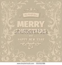 retro vintage simple merry christmas vector stock vector 351723017