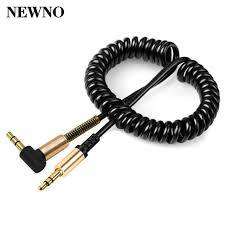 aliexpress buy hot gold plated 5mm 3 5mm tungsten newno coiled 3 5mm aux audio cable 3 5 to gold plated