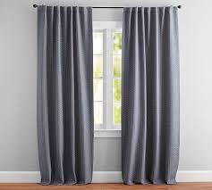 Pattern Drapes Curtains Jacquard Geo Pattern Drape 50x108 Navy Drapes Curtains