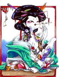 tatatatta japanese designs with image japanese geisha