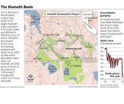 Oregon Lakes Map by Klamath Basin U0027s Water Worries Extend To Wells Oregonlive Com